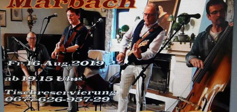 "Live Musik mit der Band ""PLOC"" am 16 August 2019"