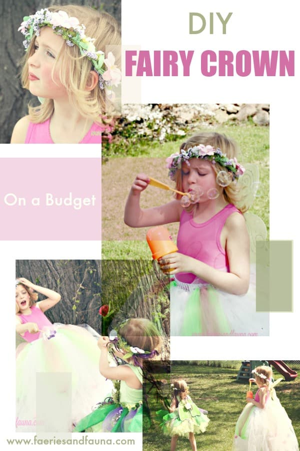 A collage of little girls playing outside in DIY fairy crowns and tutus.  fairy crown DIY, DIY tiara, DIYprincess crow, DIY crown, fairy crowns and tiaras, fairy wreath headpiece,fairy party, children's wedding outfit, children's party,forest fairy tutu, fairy costume, tutus for girls fairy tutu diy fairy tutu, no sew tutu, no sew fairy tutu
