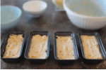 banana bread in pans