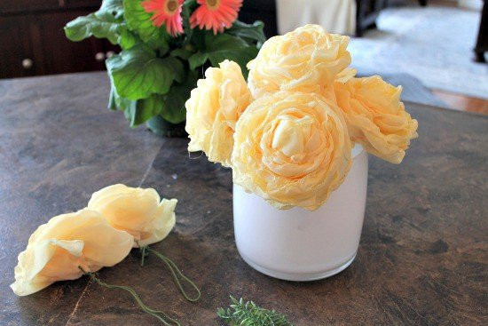 DIY flower, flower arrangement, Spring Decor, Fabric Flowers, Flower Tutorial, How to flowers, flower tutorial