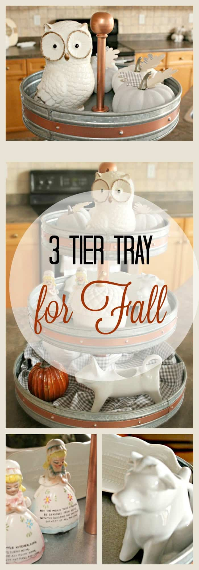 three tier tray, fall decor, neutral fall decor, tray, home decor for fall