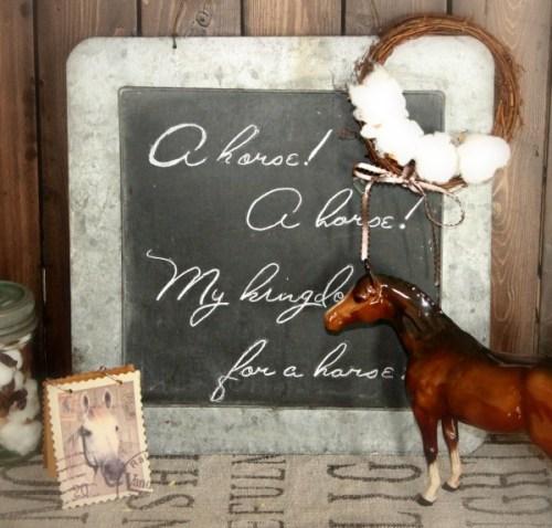 DIY, Chalboard, Farmhouse, Home Decor, Pottery, Horse