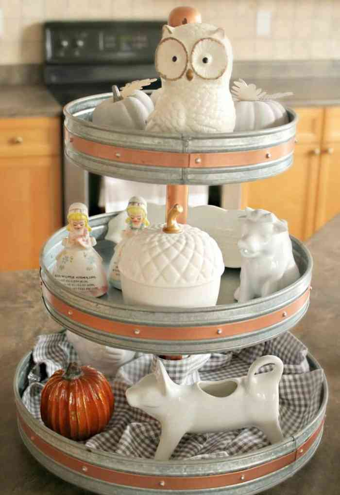 Farmhouse, three tier, fall, home decor,tray
