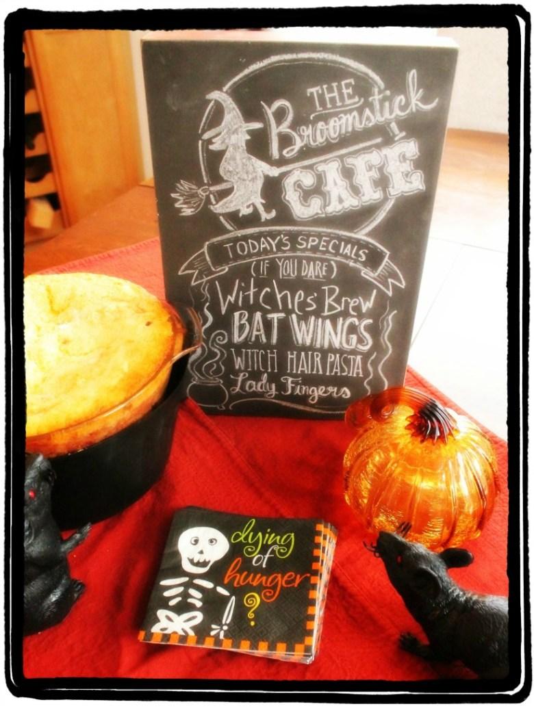 Chili, Corn bread, Recipe, Halloween