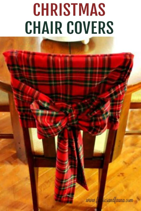 DIY Chair cover with bows for Christmas