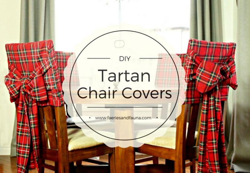 DIY Christmas Tartan Chair Covers  Of Faeries  Fauna