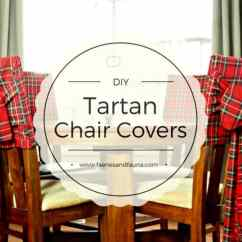 Chair Covers Diy Pale Pink Christmas Tartan - Of Faeries & Fauna Craft Co.