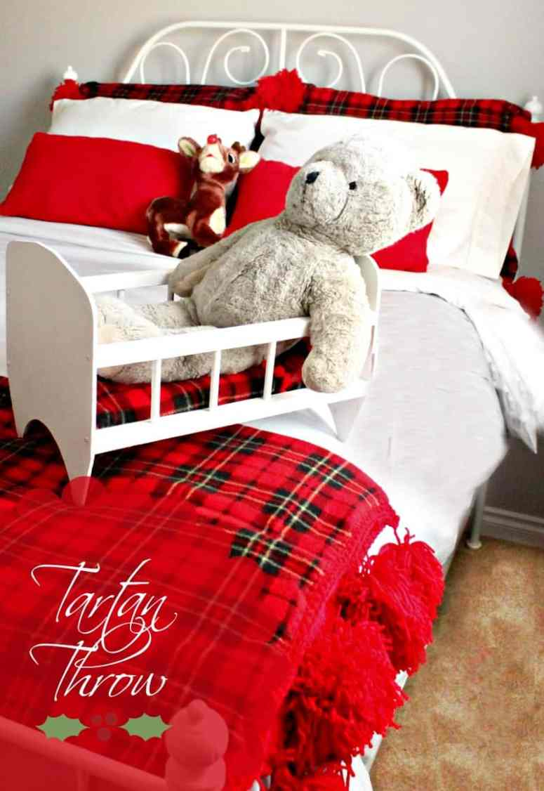 Christmas, Bedroom Decor, Sewing, DIY, Crafts, Tartan, Afghan
