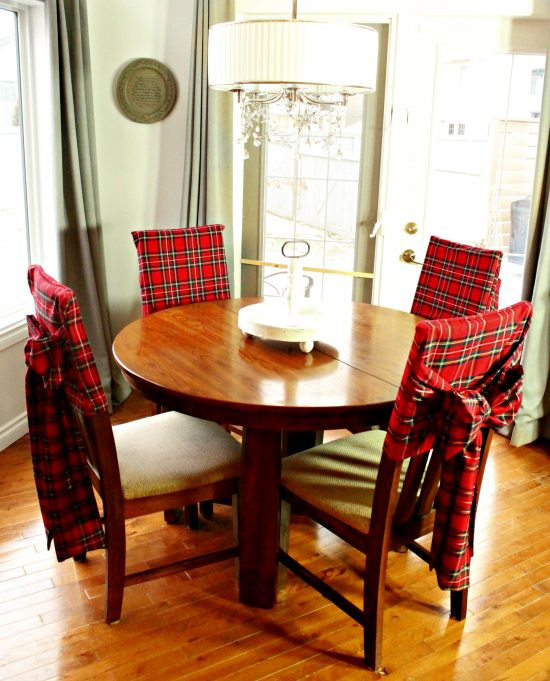 Tartan, Christmas, DIY, Crafts, Sewing, Chair Covers, Home decor