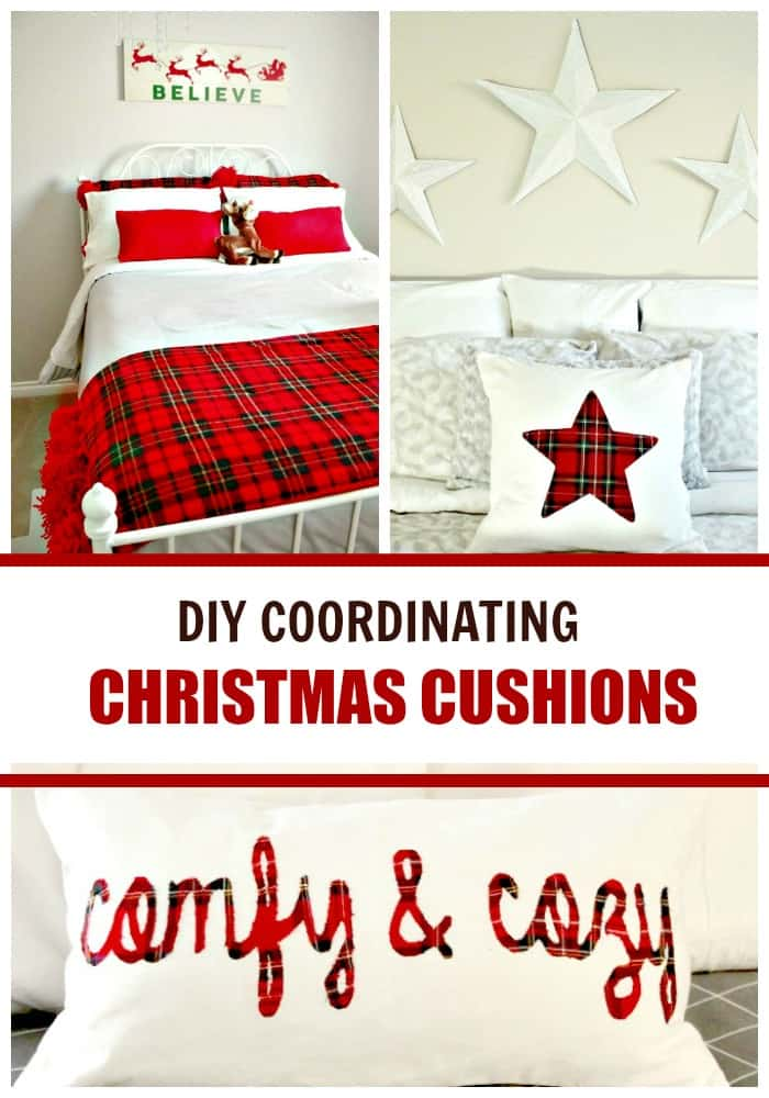 DIY Cushion covers and Pillow Covers for Christmas.