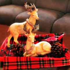 Tartan Dining Chair Covers For Sale Lite Fishing Christmas Decor Makeover - Of Faeries & Fauna Craft Co.