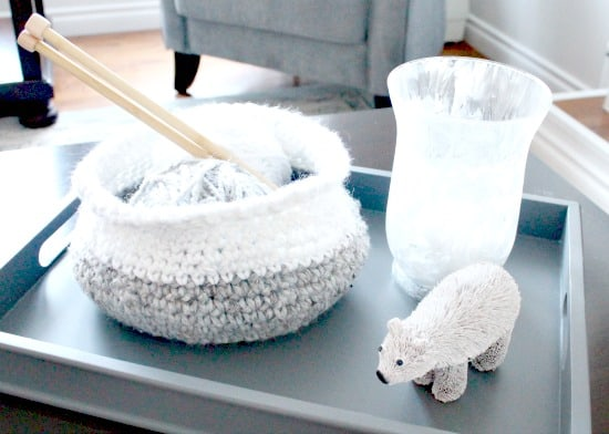Crochet, Home Decor, DIY, Winter, Winter Decor, basket