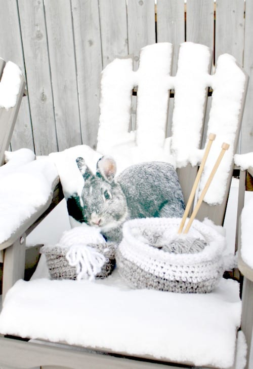 Winter Decor, Crochet, Crafts, Home Decor, DIY, basket