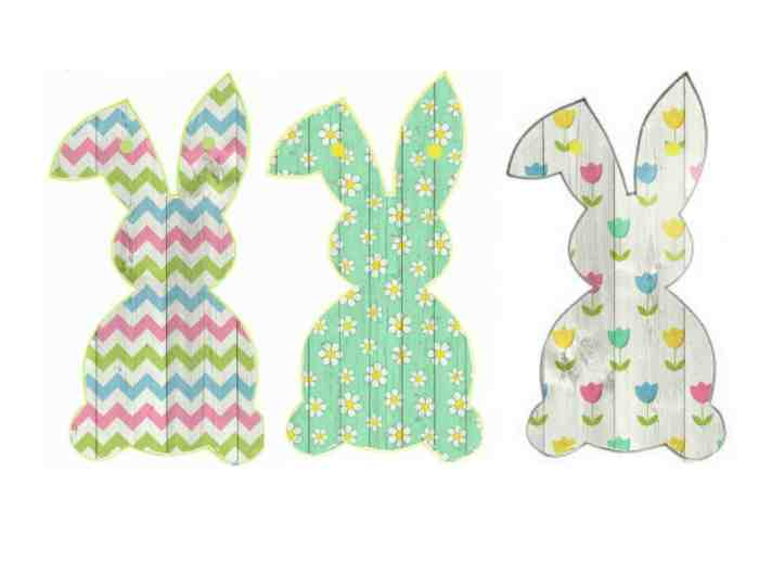 Free Easter Bunny Banner Printable - Of Faeries & Fauna Craft Co.