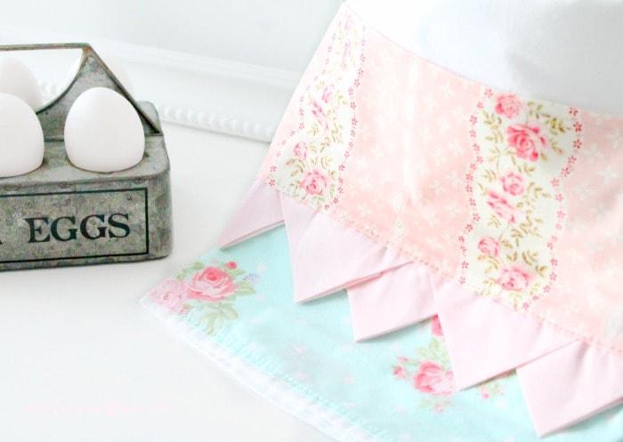 Gorgeous Petite Point DIY Kitchen Towel