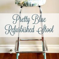 Upcycled Stool, Refurbished Stool, DIY Crafts, DIY Home Decor