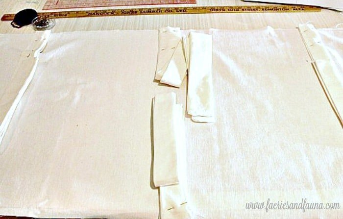 Directions on how to pin and sew a DIY soft backed cushion and bench for a pretty outdoor living area. DIY Stencil, DIY bench cushion, DIY outside cushion, DIY outside bench