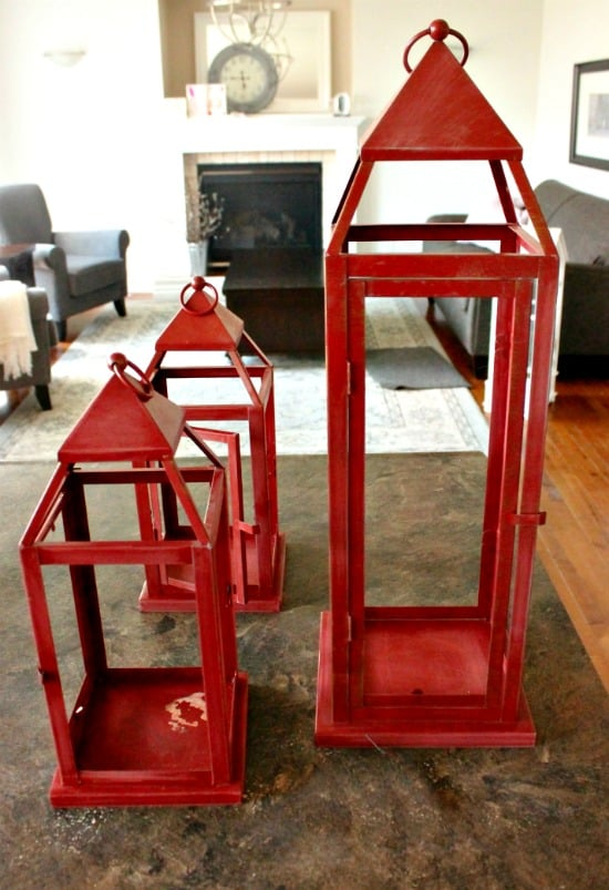 Galvanized painted lantern, how to paint a galvanized finish