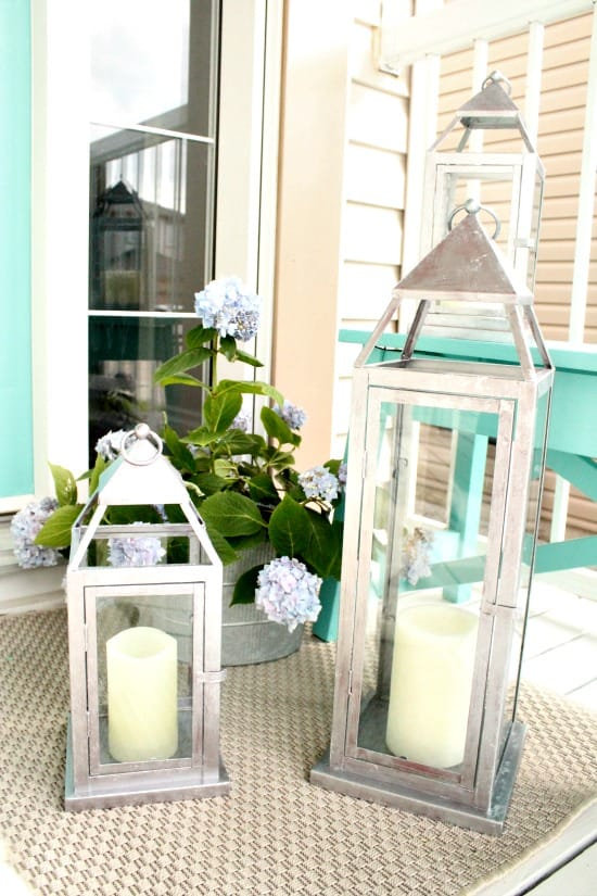 Galvanized paint for lantern, how to paint a galvanized finish,