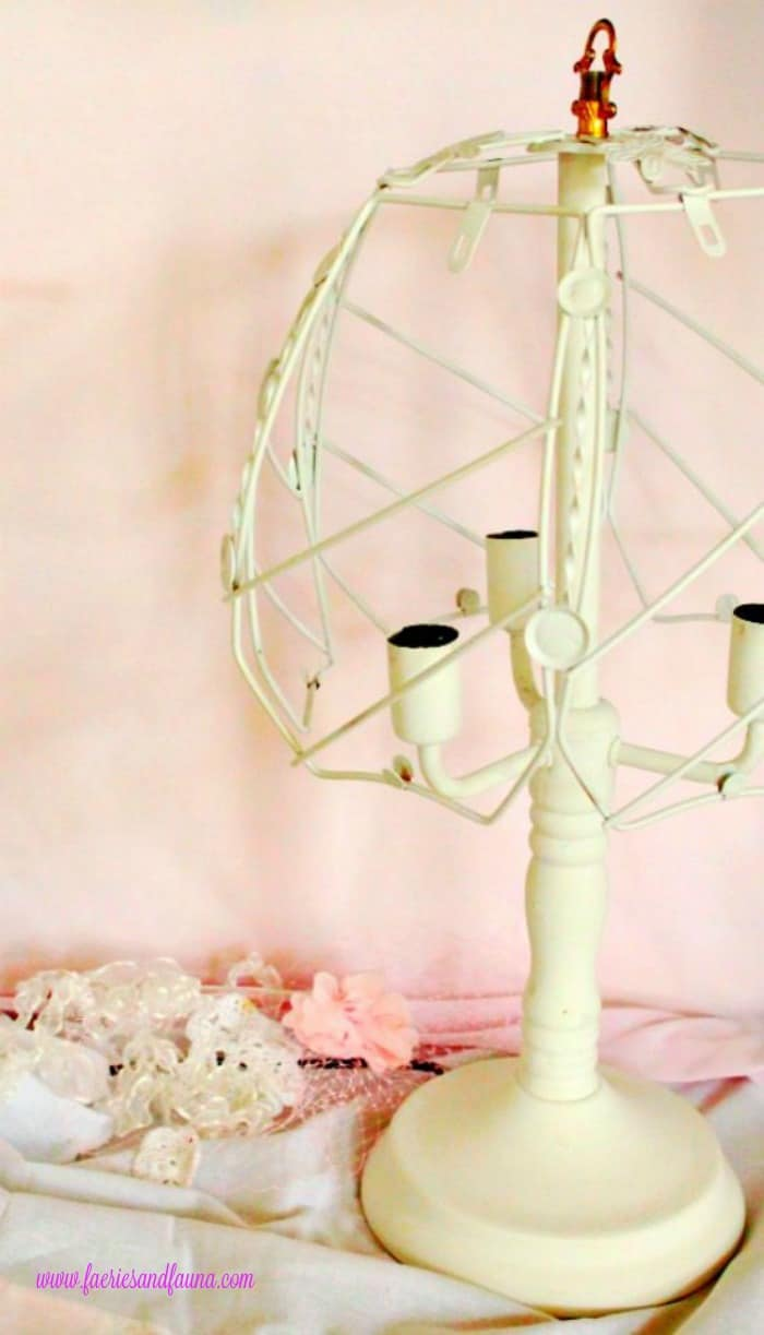 A diy painted lamp for a shabby chic lamp look lamp makeover, shabby chic lampshade ideas, diy shabby chic lamp, shabby chic, shabby chic lamp