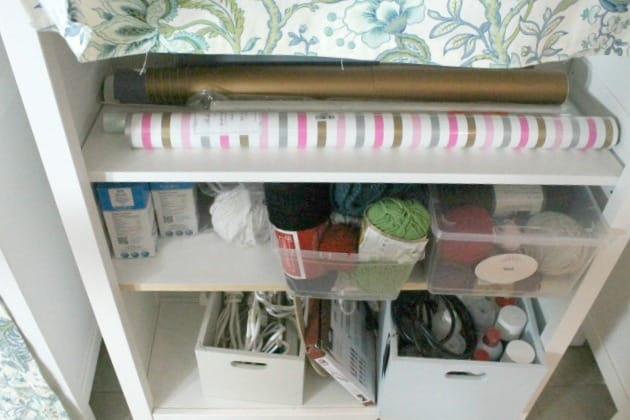 organizing crafts, organizing craft room shelves, craft room organization ideas