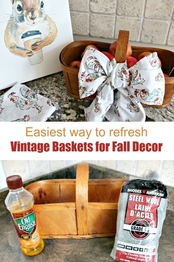How to easily fix an antique apple basket for fall decor.