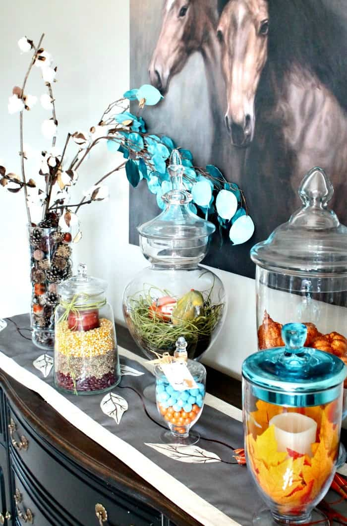 Huge Assortment of Apothecary Jar Ideas for Fall Decor