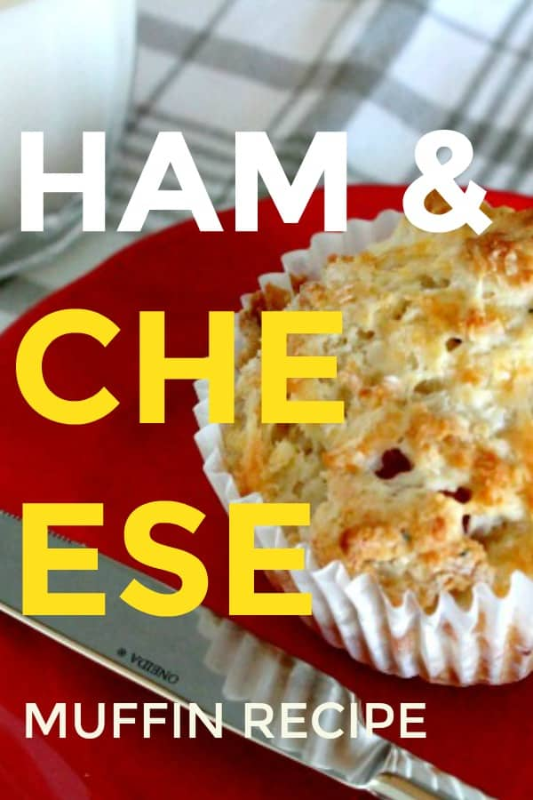 Ham and Cheese Muffin recipe. A fall muffin recipe that's great for back to school.