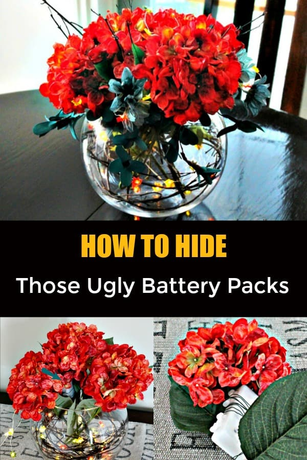 How to hide a battery pack for miniature lights, fall themed centerpieces, fall centerpieces diy,autumn decorating ideas, fall themed centerpieces, fall floral arrangements