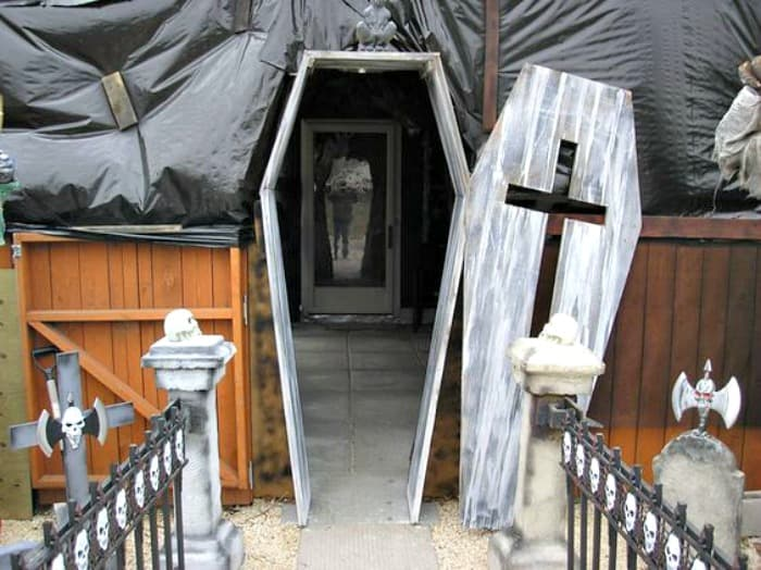 Scary Coffin Front Door Of Faeries Fauna Craft Co