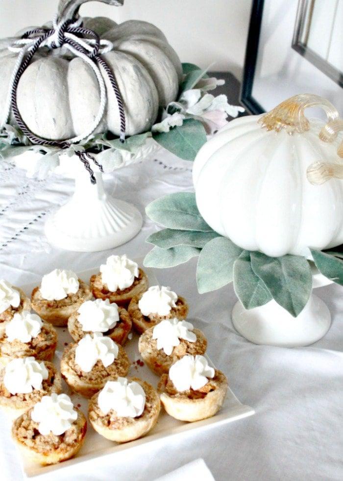 apple tart, apple tart recipe, easy fall decorations, diy fall decor