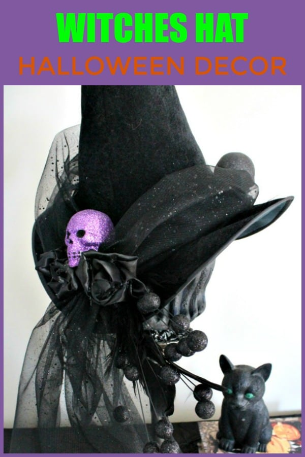 Elegant Halloween Witches Hat craft