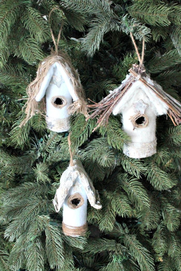 DIY Bird House Christmas Tree Ornaments. DIY Christmas Tree Ornaments, DIY  Ornaments, homemade