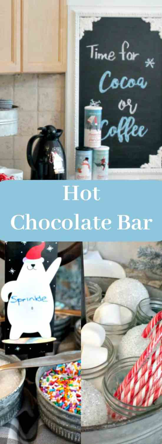 hot chocolate bar,hot chocolate bar ideas, hot chocolate toppings,