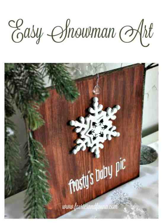 diy snowman decoration, Frosty's baby picture, diy snowman crafts, snowman craft ideas