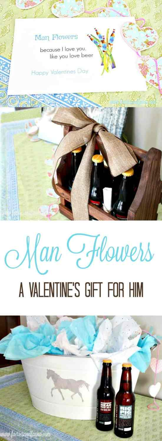 bucket of beer,  craft beer gifts, valentines day flowers for him, what can I send a man instead of flowers,