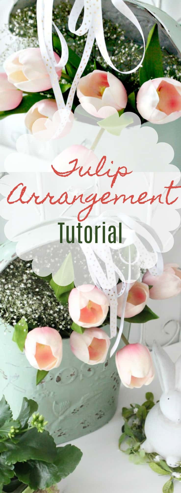 Spring wreath Tulip Arrangement Ideas, flower arrangement images, easy florist, tulip flower, tulip flower arrangements, easy flowers, pink tulips, white tulips, diy spring flower arrangements, spring flowers, flower decoration,