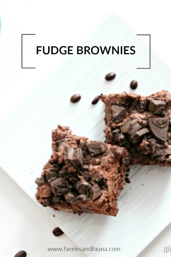 Chocolate fudge brownie recipes with a glass of milk.