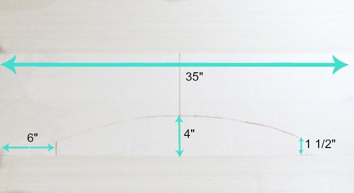 Cornice box valance pattern for a Styrofoam valance diy project