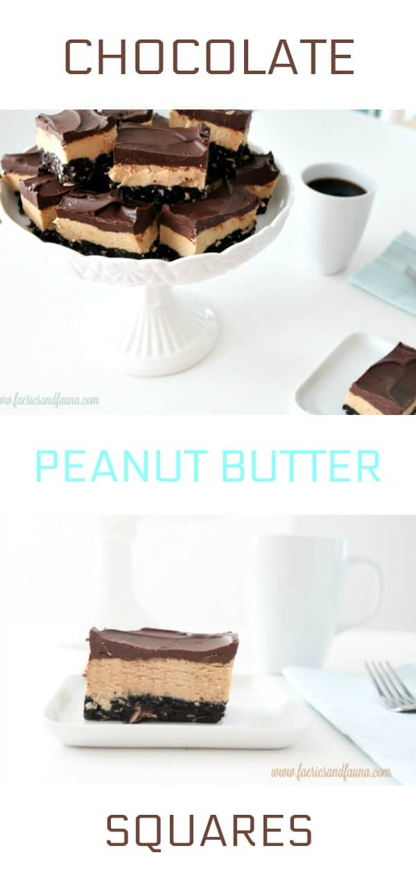 Chocolate Peanut Butter Squares Collage