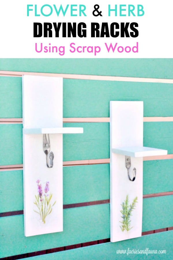How to make a herb dryer using scrap wood. Small wood projects, easy wood projects, easy woodworking projects, simple wood working projects, simple wood projects, wood projects, woodworking projects, flower drying, herb drying, scrap wood projects, hanging herbs, hanging flowers