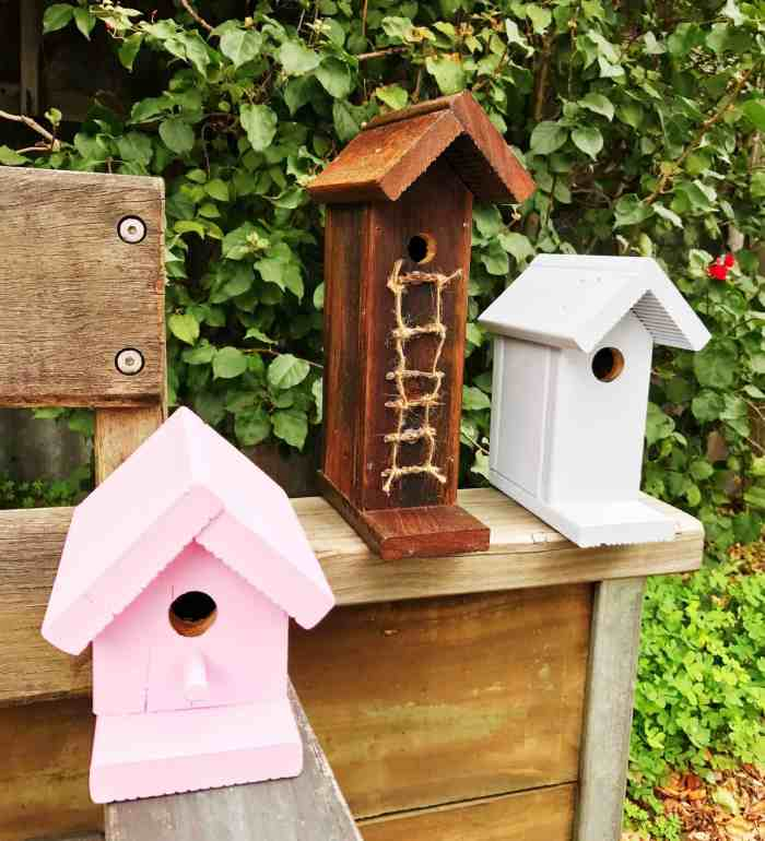 DIY Birdhouses Feature from Waste not Wednesday Link Party