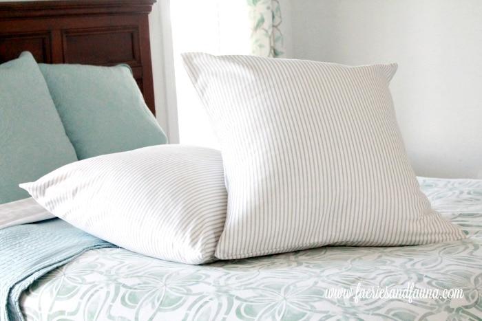 Fresh and crisp looking european cushions. Finished Handmade European cushions. Finished Handmade European cushions. Cushion making, DIY cushion covers, DIYpillow, making pillow covers, cushion cover making, sewing pillow covers, envelope cover, DIY Cushion Covers