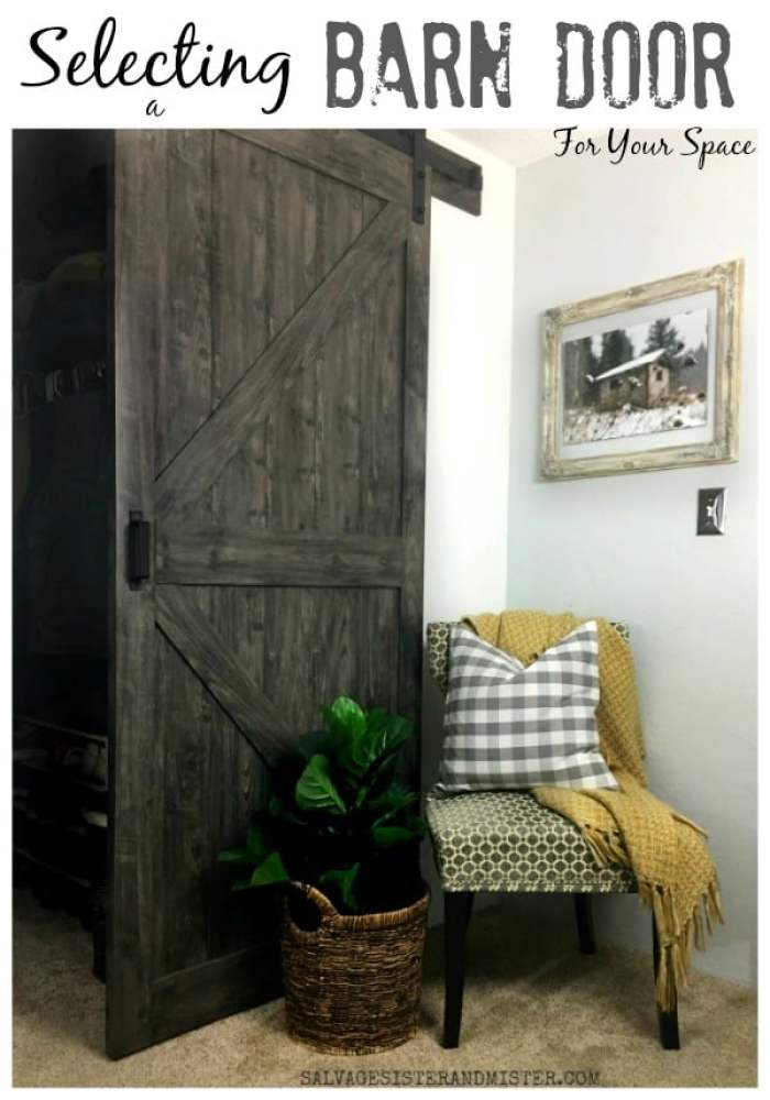 Selecting a Barn Door from Waste not Wednesday Link Party