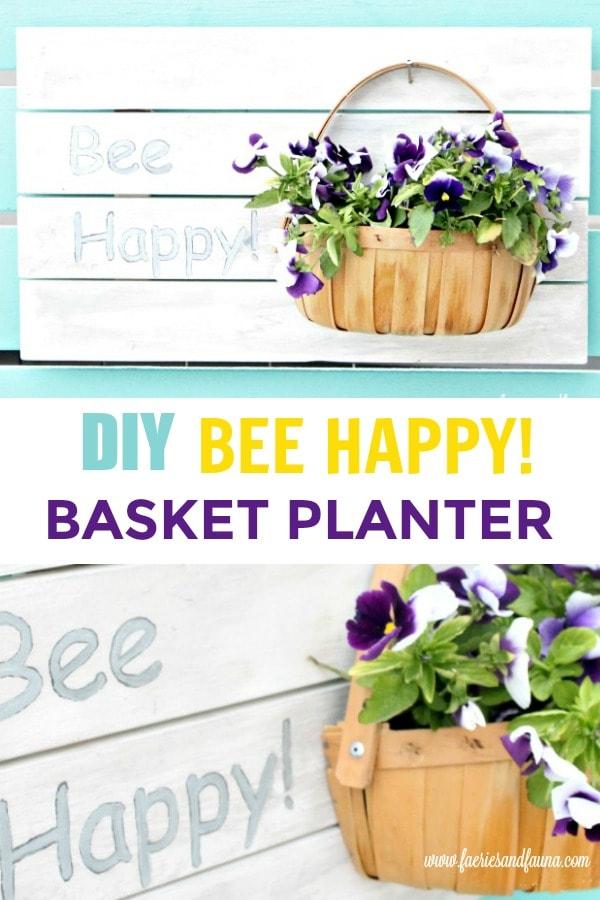 DIY Bee Happy Planter Sign