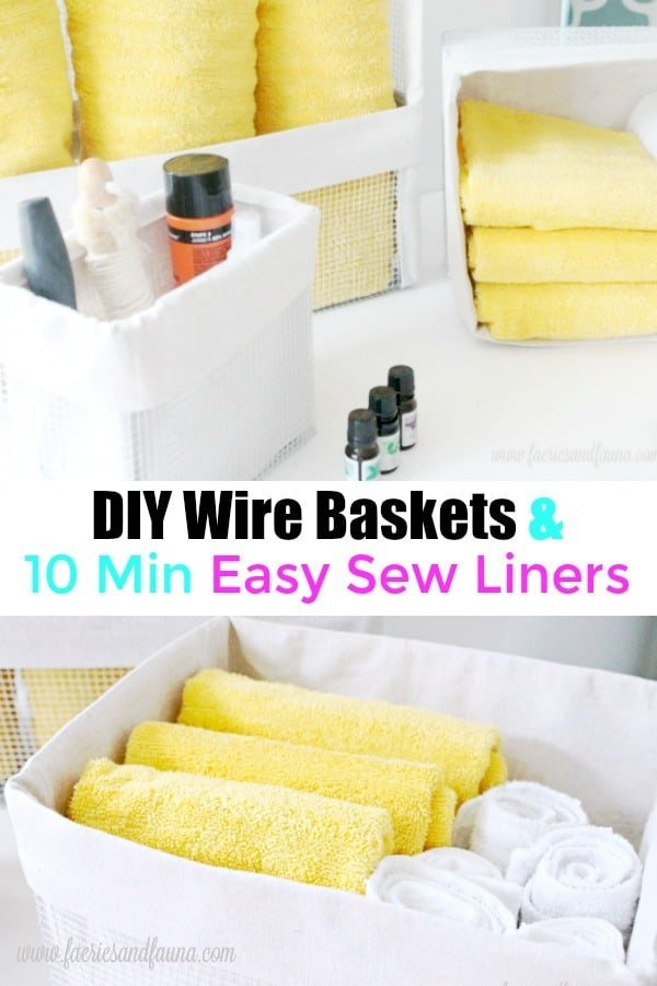 Wire baskets and drop cloth liners.