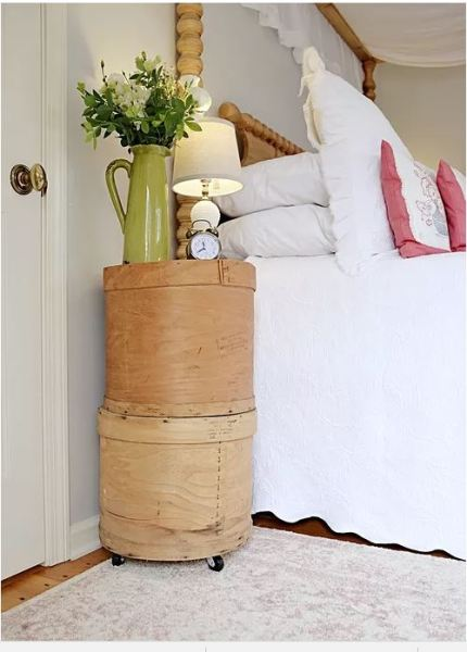 Vintage Cheese crate bedside table