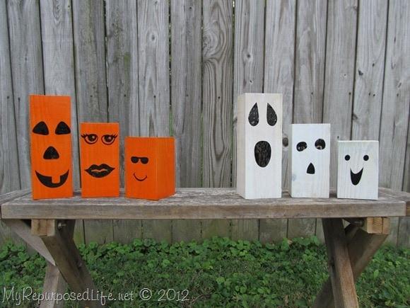 Easy outdoor Halloween decor idea.