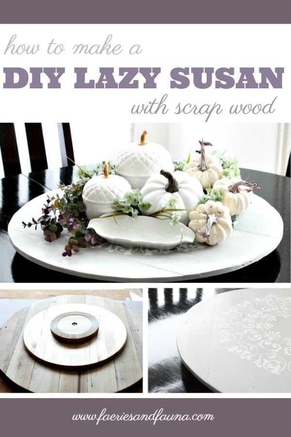 The steps needed to make an old table into a gorgeous fall centerpiece
