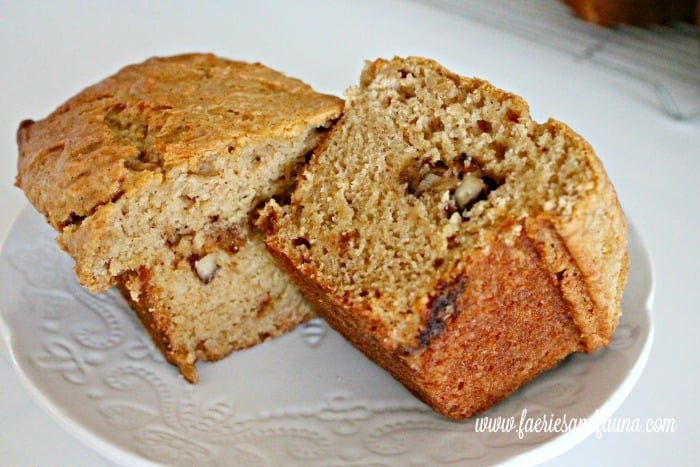 Pumpkin bread with a candied walnut centers. The best pumpkin bread recipe you ever had.